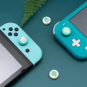 Image 2 - Animal Crossing Small Tree And Tree House Thumb Stick Grip Cap Joystick Cover For Nintendo Switch Lite Joy Con Controller Case