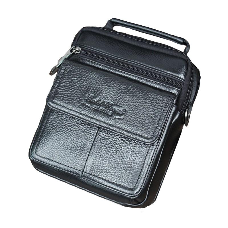 2019 Genuine Leather Shoulder Bag Small Messenger Bags Men Travel Crossbody Bag Handbags Leather Pouch Fashion Flap Men Bag