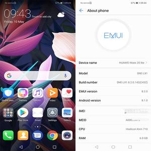 Image 4 - Huawei Mate 20 Lite Maimang 7 Мобильный телефон 6,3 дюйма 6 ГБ ОЗУ 64 Гб ПЗУ Kirin 710 OctaCore 2340x1080 Android 8,1 3750 мАч