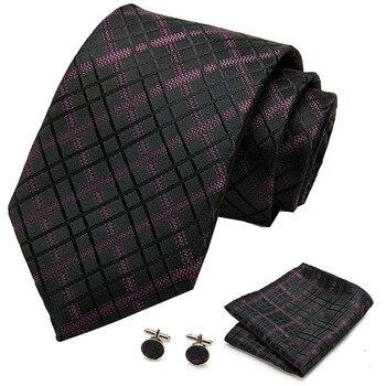 цена на 2020 Mens Wedding Tie Blue Paisley Silk Tie Hanky Set Silk Jacquard Party Woven Fashion Designers Necktie For Men