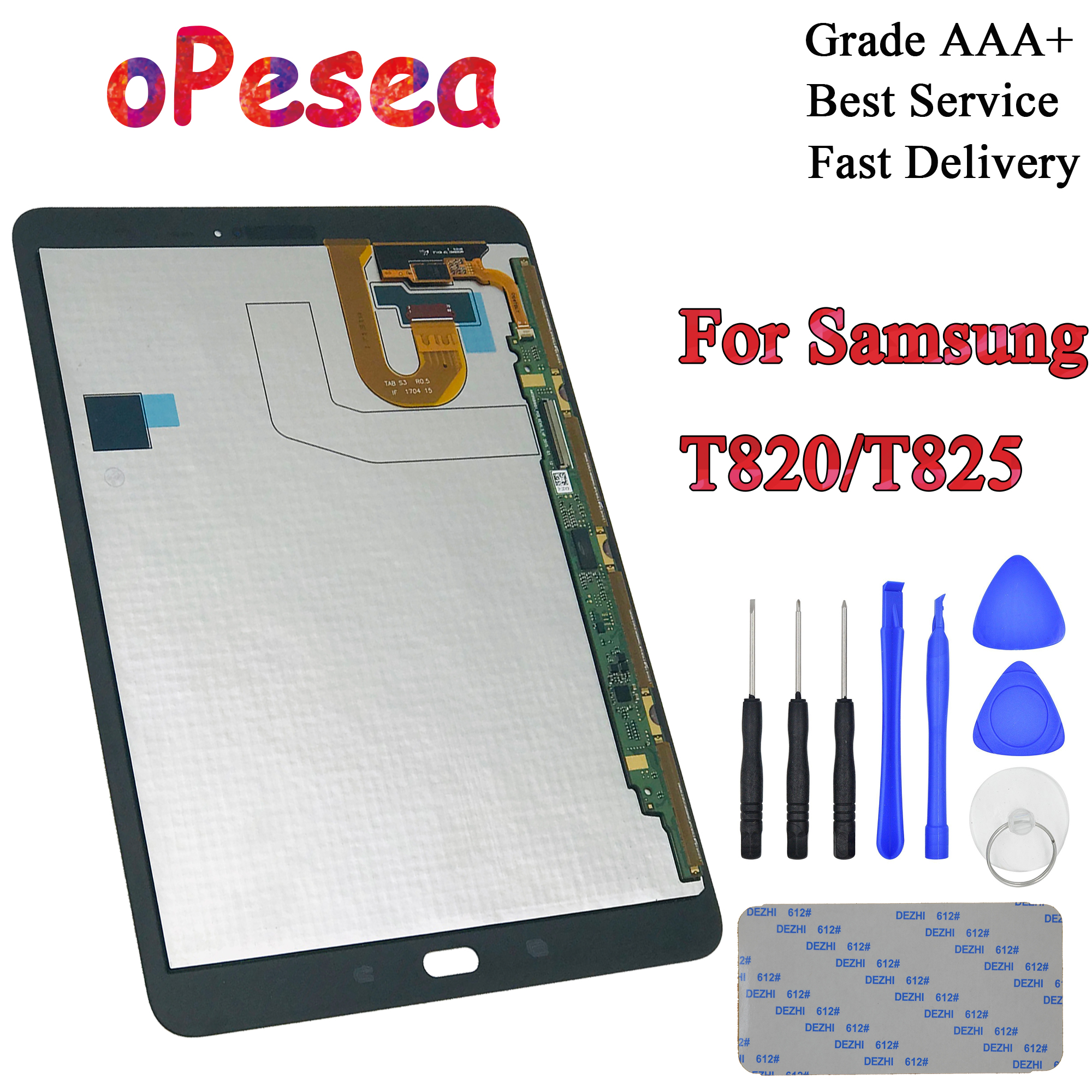 OPesea For Samsung GALAXY Tab S3 9.7 T820 T825 T827 Touch Screen Digitizer LCD Display Panel Glass Assembly