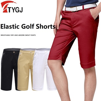 2020 autentyczne spodnie do golfa męskie spodenki idealne mieszkanie-z przodu męskie szorty lato cienkie suche sprawne oddychające krótkie spodnie XXS-XXXL tanie i dobre opinie POLIESTER spandex Dobrze pasuje do rozmiaru wybierz swój normalny rozmiar TT0026 Stałe