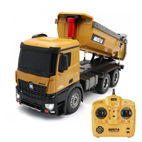 HUINA 573 1/14 10CH Alloy RC Dump Trucks Engineering Construction Car Remote Control Vehicle Toy RTR RC Truck Gift For Children