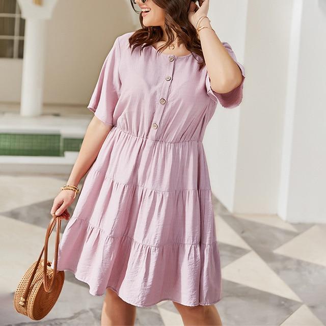 Solid Color Women's  Elegant Dress knee length Skirt 6