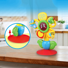 Baby Rattles Toys Newborn animal Rotate Suction cup dining t