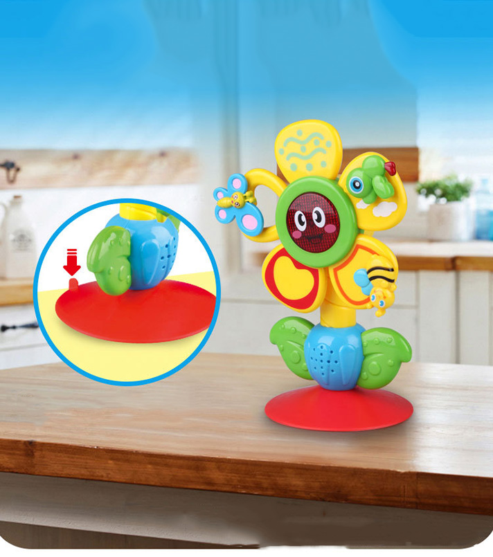Baby Rattles Toys Newborn Animal Rotate Suction Cup Dining Table Rattles Baby Toys 0-12 Months Muscial Mobile Baby Toys For Baby