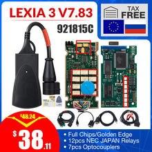 Um + + + dourado completo chip lexia 3 pp2000 diagbox v7.83 com 921815c lexia3 v48/v25 para citroen para peugeot obdii diagnostic-tool