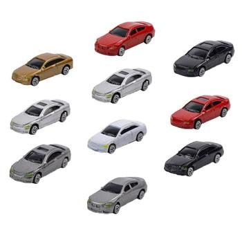 10Pcs HO Scale Model Mini Vehicle Car 1:87 Architecture Model Train Scenery Micro Landscape Car image