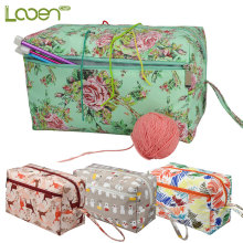 Looen Square Empty Crochet Bag DIY Yarn Knitting Bag For Knitting Needles Sewing Tools Storage Bag Needle Arts Craft For Women looen crochet hooks set with empty yarn storage bag sewing tools cut animal knitting needles diy needle arts craft with case