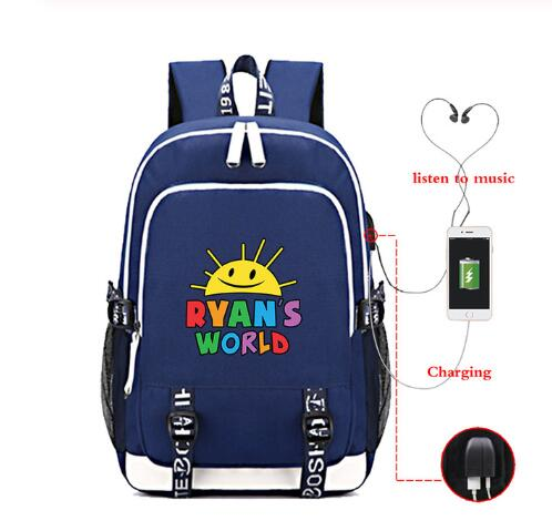 Ryan Toys Review USB Backpack Teenager Bags Boys school Book Bags Fans Travel Bags Laptop Bag Mochila Feminina image