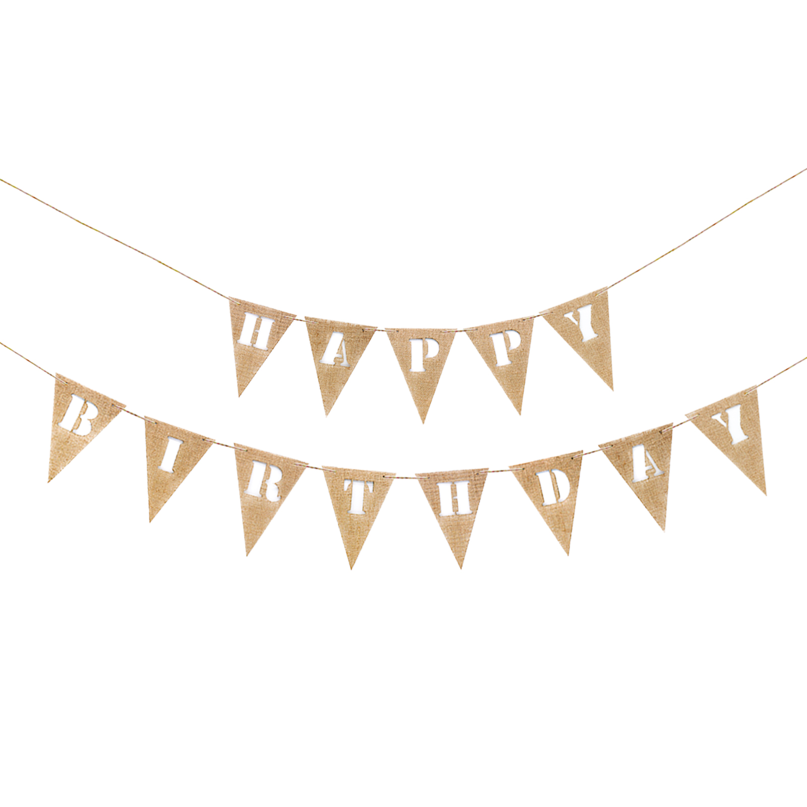 Hessian and ivory lace bunting for weddings engagements babyshowers parties