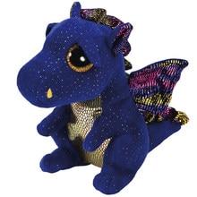 Peluches Ty Saffire, animaux, Dragon, poupées en peluche, 15cm, cadeaux