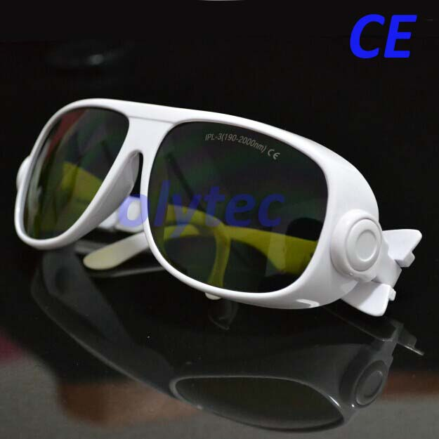 CE new IPL safety glasses for wide range wavelengths 190 2000nm CE certified with black case and cleaning cloth|ipl safety glasses|safety glasses|ipl glasses - title=
