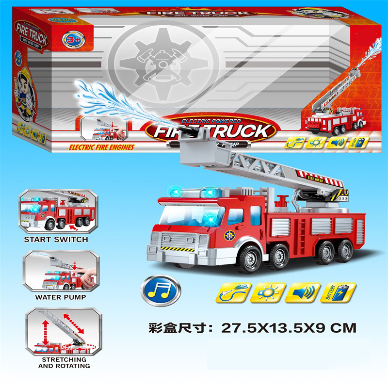 CHILDREN'S Toy Car Electric Universal Water Spouting Fire Truck Model Music Light Stall Hot Selling Supply Of Goods