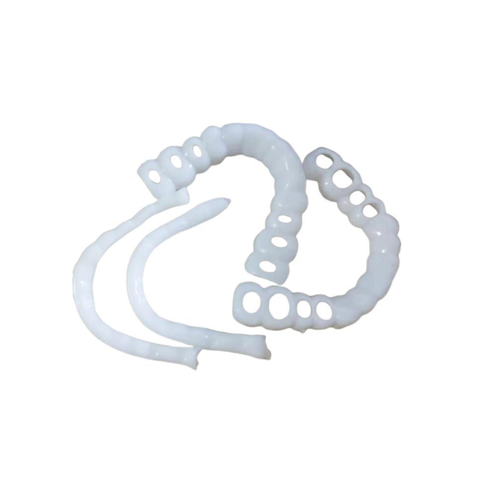1set Perfect Silicone Fitting Top & Bottom Plate Cosmetic Teeth Wrenches Whitening Simulation Cover Denture M0O1