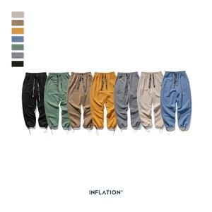 Image 5 - אינפלציה עיצוב סופר רופף Fit גברים מכנסי טרנינג בצבע טהור Loose Fit רטרו סגנון Mens מכנסי טרנינג רחוב ללבוש גברים מכנסיים 93402W