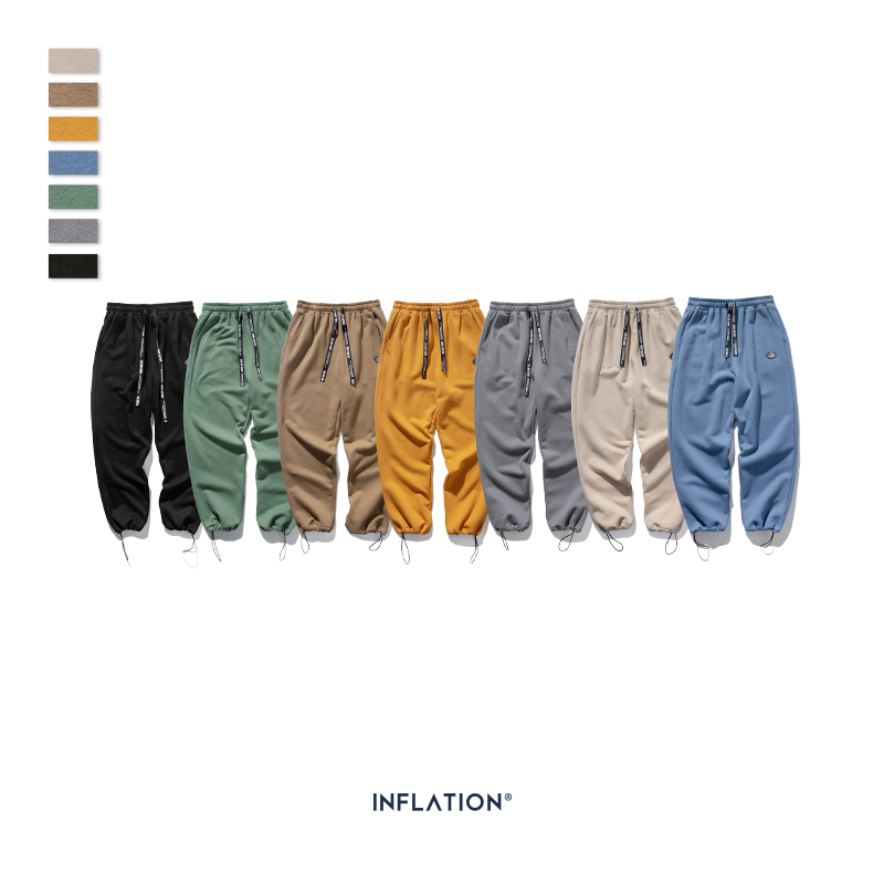 Image 5 - INFLATION DESIGN Super Loose Fit Men Sweatpants In Pure Color Loose Fit Retro Style Mens Sweatpants Street Wear Men Pants 93402W-in Casual Pants from Men's Clothing