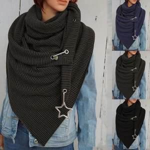 Scarves Shawls Printing-Button Soft-Wrap Warm Fashion Soild-Dot Personality Casual Women