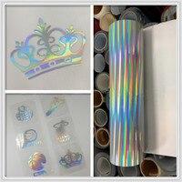 HTV SUNICE 50cmx300cm Hot Pressing Heat Transfer Vinyl Holographic Rainbow IRON ON Sports Skirts T shirts Vinyl Paper Art