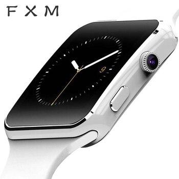 Cyfrowy zegarek FXM kobiety nowy nabytek X6 inteligentny zegarek z kamerą z ekranem dotykowym SIM TF Card Smartwatch Bluetooth męski zegarek
