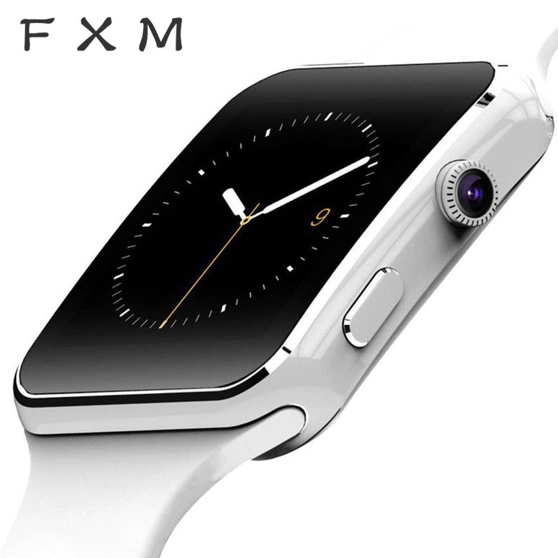 FXM Digital Watch Women New Arrival X6 Smart Watch With Camera Touch Screen Support SIM TF Card Bluetooth Smartwatch Men's Watch