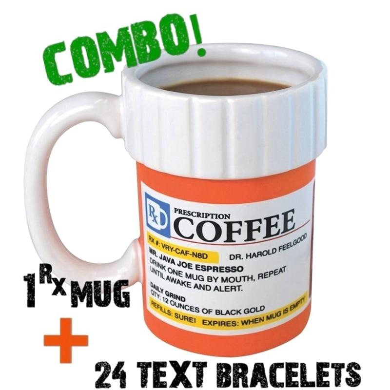 Customize Caffeine Prescription Coffee Mug Pill Bottle Coffee Cup Pharmacy Rx Customize Gift Ceramic Travel Cups|Mugs|   - AliExpress