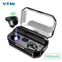 Vtin XV368 Drahtlose Kopfhörer Bluetooth 5,0 TWS Kopfhörer Mit 7000mAh Lade Fall 8H Spielzeit Power Bank Funktion Für telefon