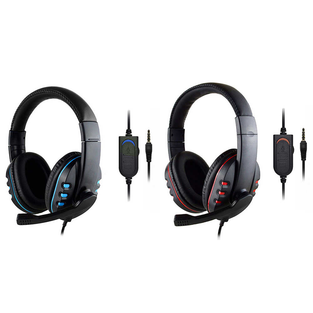 3 5mm Wired Gaming Headset Over Ear Bluetooth Headphones With Rotatable Microphone For Ps4 Xbox One Pc Computer Gamer Alloet Aliexpress