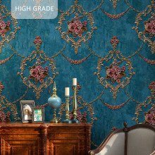 High quality American wallpaper 3D rural non-woven European style wallpaper luxury retro TV background home living room bedroom цена 2017