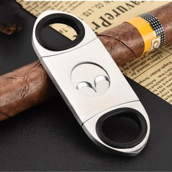 1 szt Nożyczki do cygar ze stali nierdzewnej nożyczki do cygar sprawiają że cygaro jest kompletne i gładkie Nożyczki do cygar mają wysoką jakość tanie i dobre opinie JD-806 Stainless steel