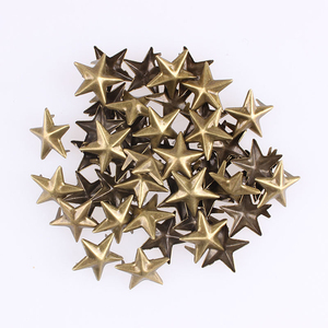 Star/Pentagram Metal Rivet Buttons for Scrapbooking Crafts DIY Baby Children Clothing Sewing Button Decoration 100pcs E