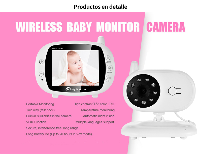 3 inch Baby Monitor With Security Night Vision Camera And a Voice Call For child Security 13