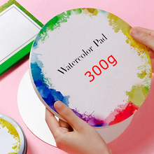 Professional Round Watercolor Paper 300g Tin Box Art Paper Student Art Paint Special Watercolor Book and Painting Paper