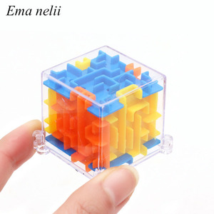 Hot Sale 4x4x4cm 3D Puzzle Maze Toy Kids Fun Brain Hand Game Case Box Baby Balance Educational Toys for Children Holiday Gift(China)