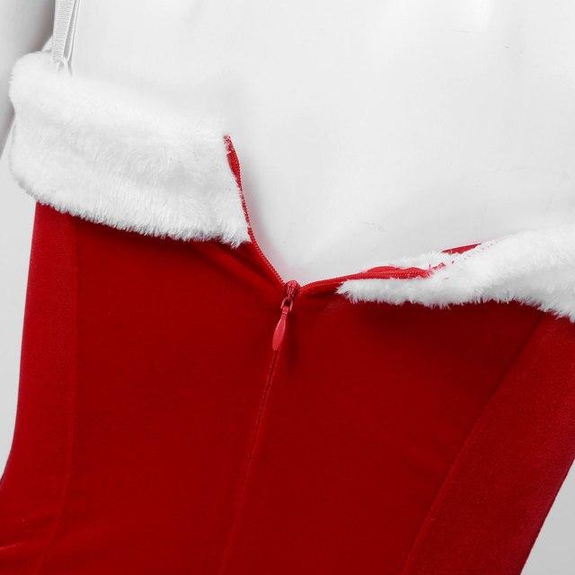 Sexy Velvet Santa Christmas Costume #C1534 6