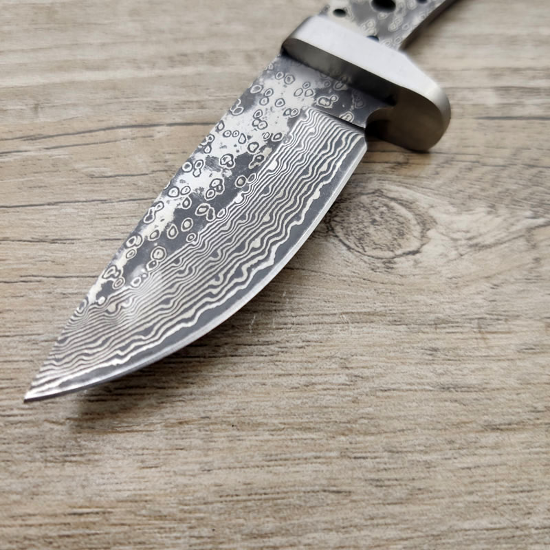 Tools : X-13DP 60HRC Damascus Steel Sandwich Clamp Steel Integral Keel Hunting Knife With Brass Guard  DIY Knife Blade Material