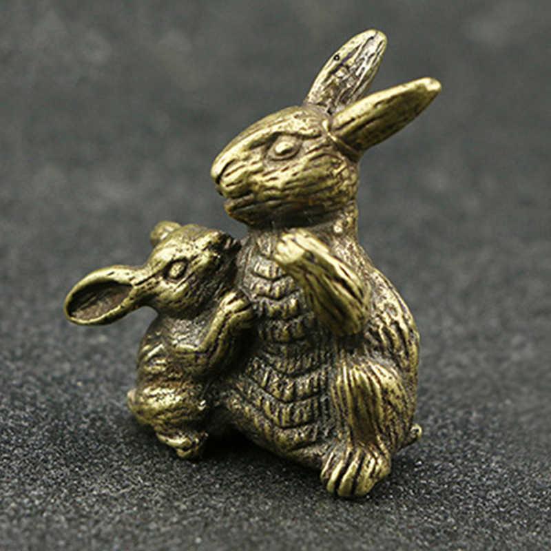 Орнамент Винтаж Чистая латунь кролик ручной работы 1 шт. настольное украшение дома, Новое поступление Наборы