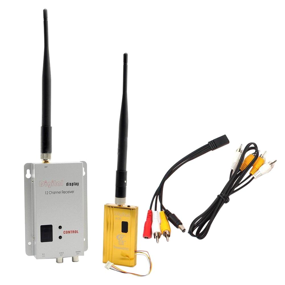 1.2G With Antenna Easy Install AV Transmitter Receiver Kit Stable Home Multifunction Portable Audio Video Wireless Transceiver
