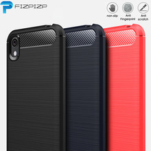 Carbon Fiber Case for Huawei Y5 2019 Y6 Y7 Y9 Prime Honor 8S 8 9 10 Lite 10i 8X 8C 8A 9X PRO Texture TPU Silicone Hybrid Cover(China)