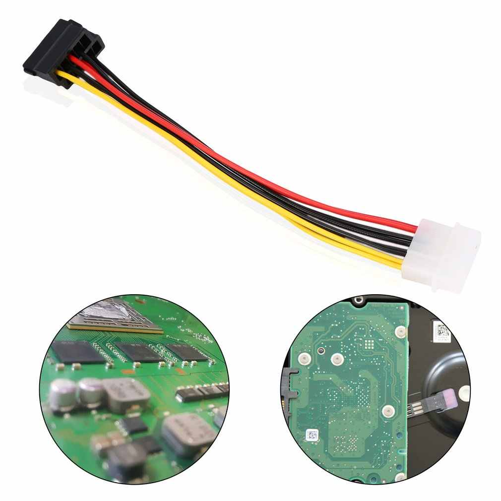 1pcs 4 Pin Serial ATA SATA IDE Molex para 2 de 15 Pin HDD Power Adapter Cable Hot Em Todo O Mundo