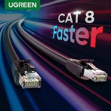 Ugreen Cat8 Ethernet kablosu RJ45 ağ kablosu SFTP Lan RJ45 yama kablosu PlayStation ps4 yönlendirici Laptop kedi 8 kablo Ethernet