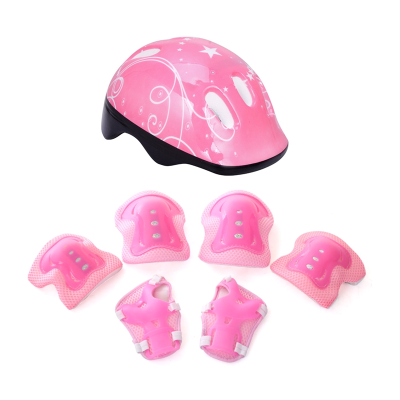 High Density Children Bike Helmet Skateboard Skating Cycling Riding Kids Bicycle Helmet Ciclismo Casco and Protective Knee Pads