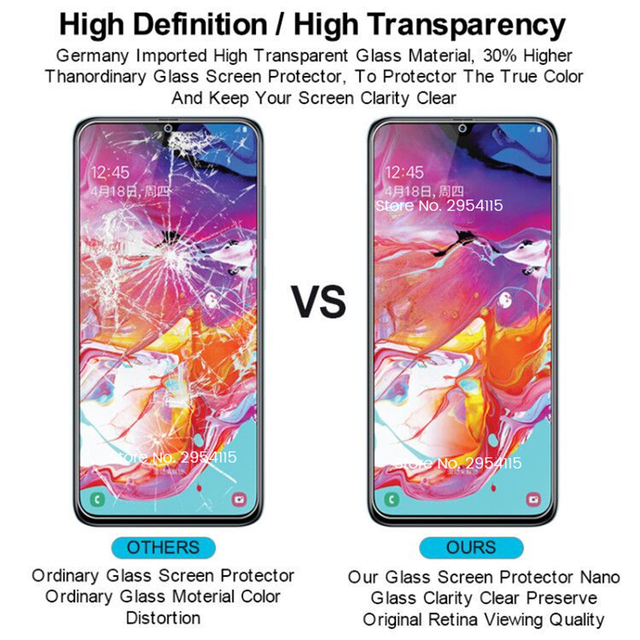 3PCS Protective Glass For Samsung Galaxy A02 S A12 A32 A42 A52 A72 A71 A51 A31 A21S A11 A01 M21 M31S M51 Screen Protectors Film 6