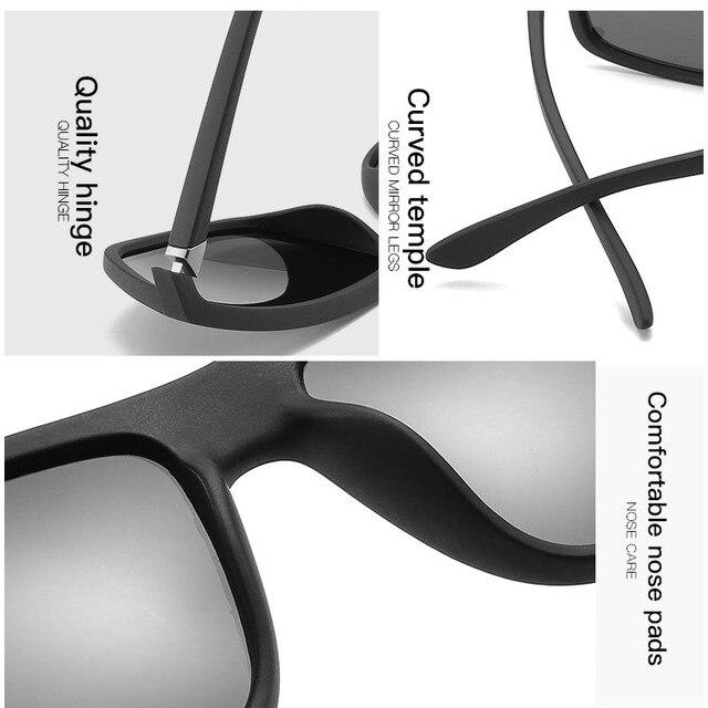 Gafas de sol polarizadas para hombre y mujer, lentes cuadrados para el sol, retro de marca famosa, unisex 6