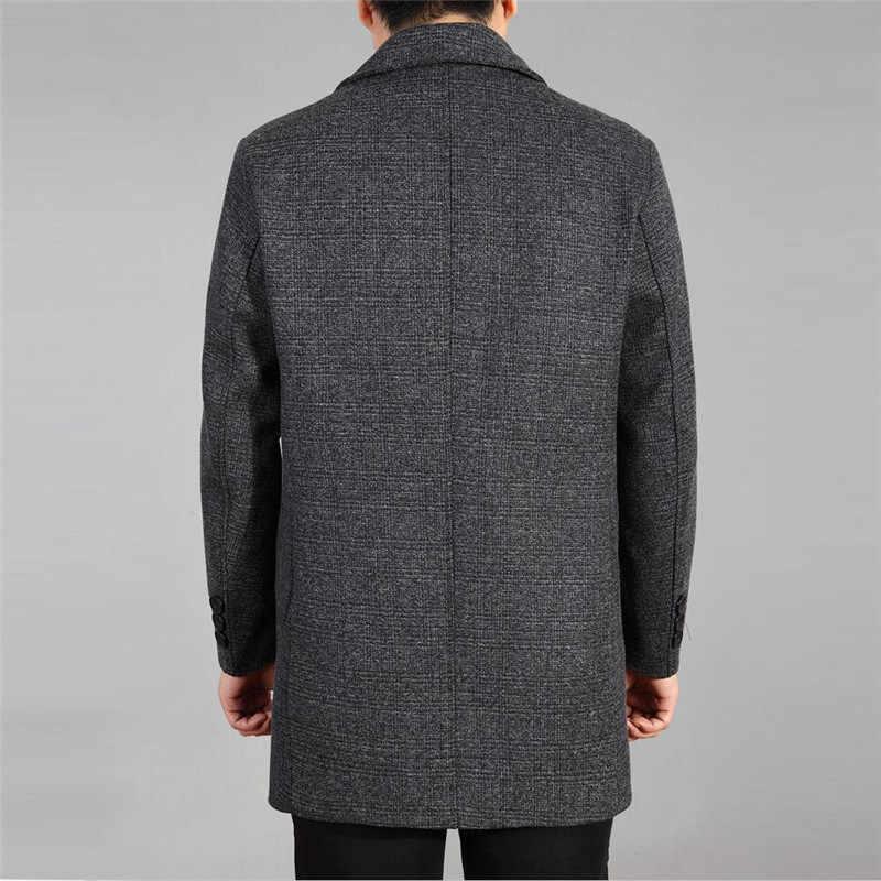 Пальто, мужские шерстяные неформальные шерстяные пальто, Мужская одежда, пальто, пальто на одной пуговице, 5XL, 6xl,