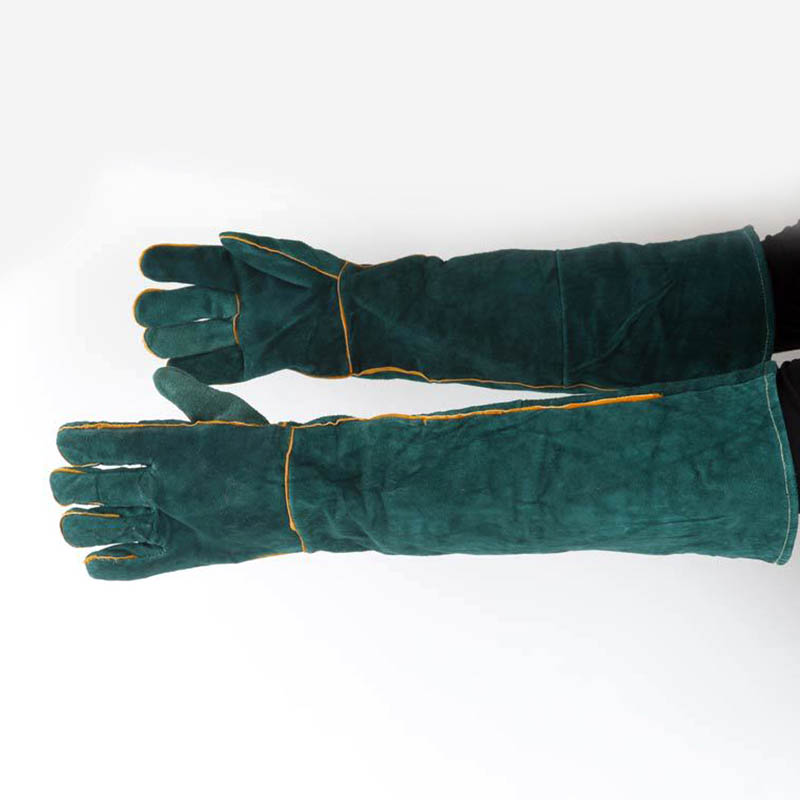 1Pair Electric Welding Gloves High Temperature Resistant Welders Long Gloves 60CM Hi 888