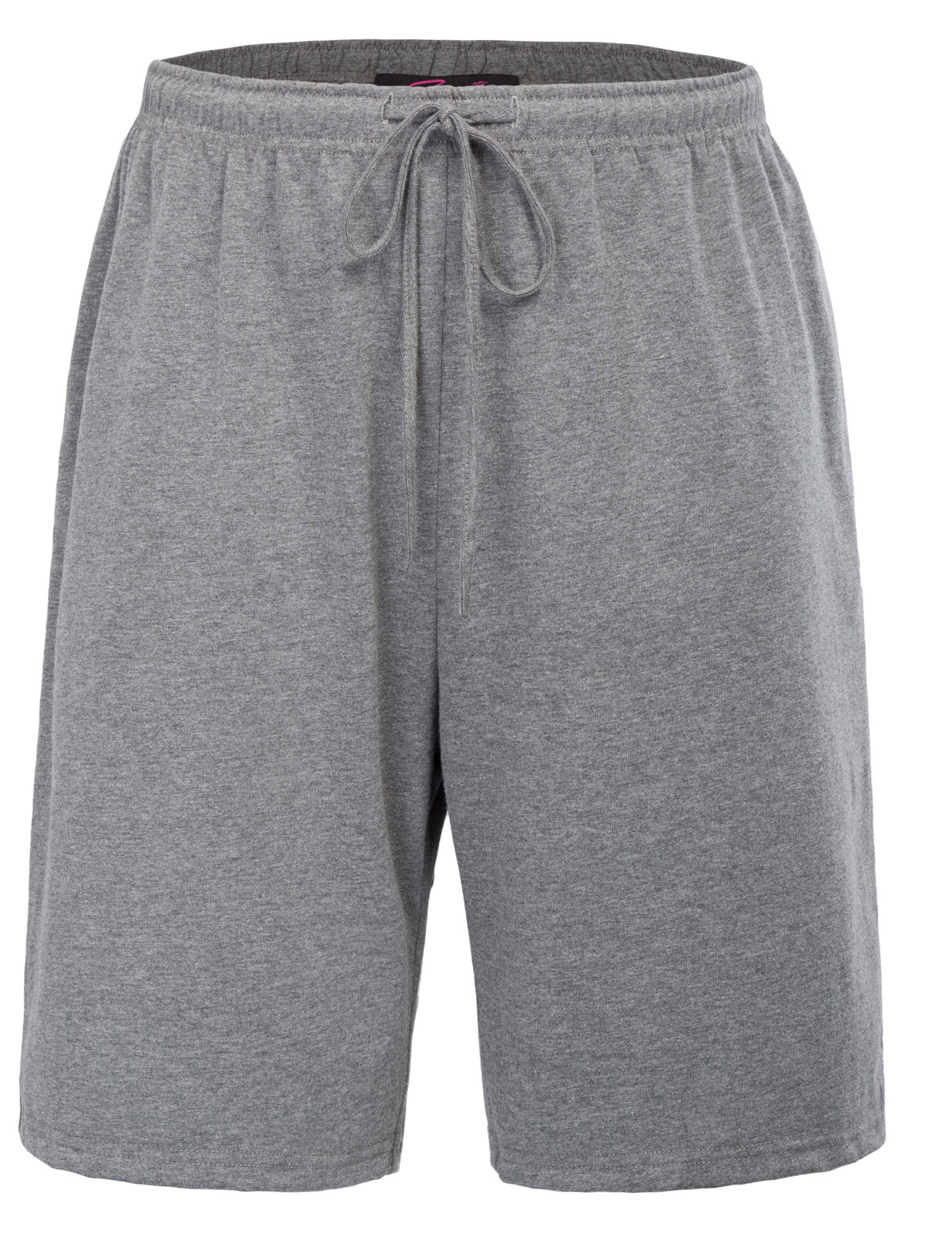 Men's Sleep Bottoms Loose Elastic Waist Lounge Sleep Shorts Summer Solid Color Cotton Comfortable Home Night Short Pants