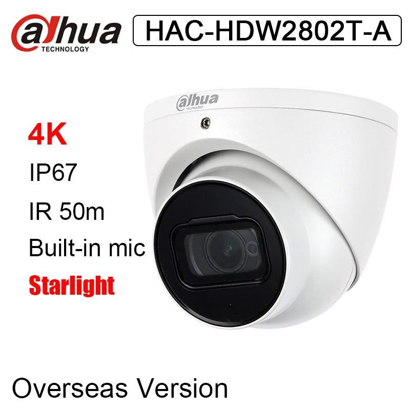 HAC-HDW2802T-A 4K Starlight HDCVI IR Eyeball Camera Built-in Mic IR 50m 1