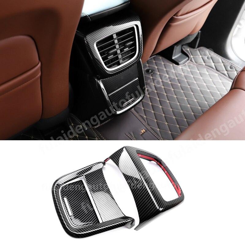 Carbon Fiber Rear Air Vent Outlet Panel Cover Trim For Ford Explorer 2016-2018