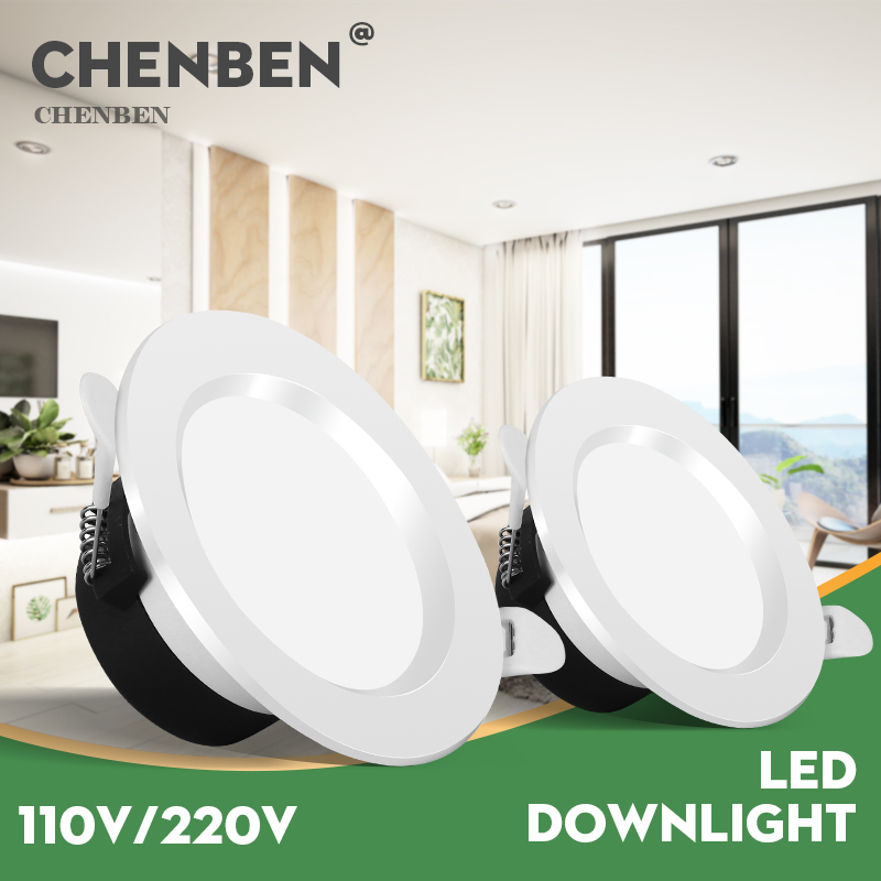 Recessed Led Downlight 220V 5W 7W 12W 18W 110V Round Spot Lights Lamp Led Spotlights Ceiling Lighting For Living Room Kitchen